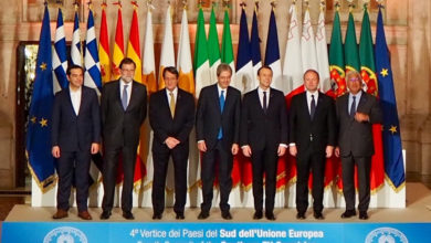 South EU Summit Leaders in Rome