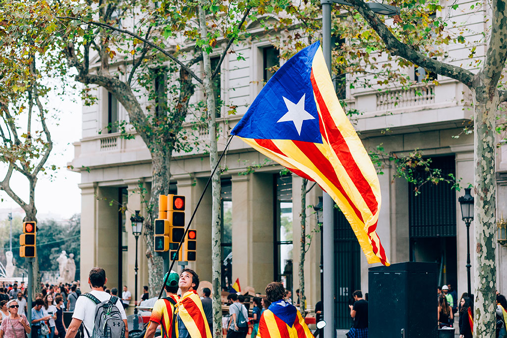 M Protests Sparked By Catalan Activists Prison Sentences